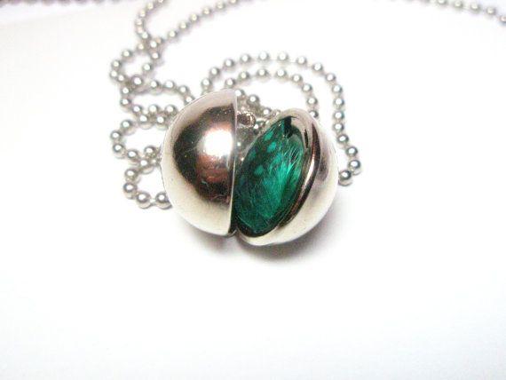 Ball locket necklace round locket pendant sphere locket secret ball locket necklace round locket pendant sphere locket secret message necklace mozeypictures Images