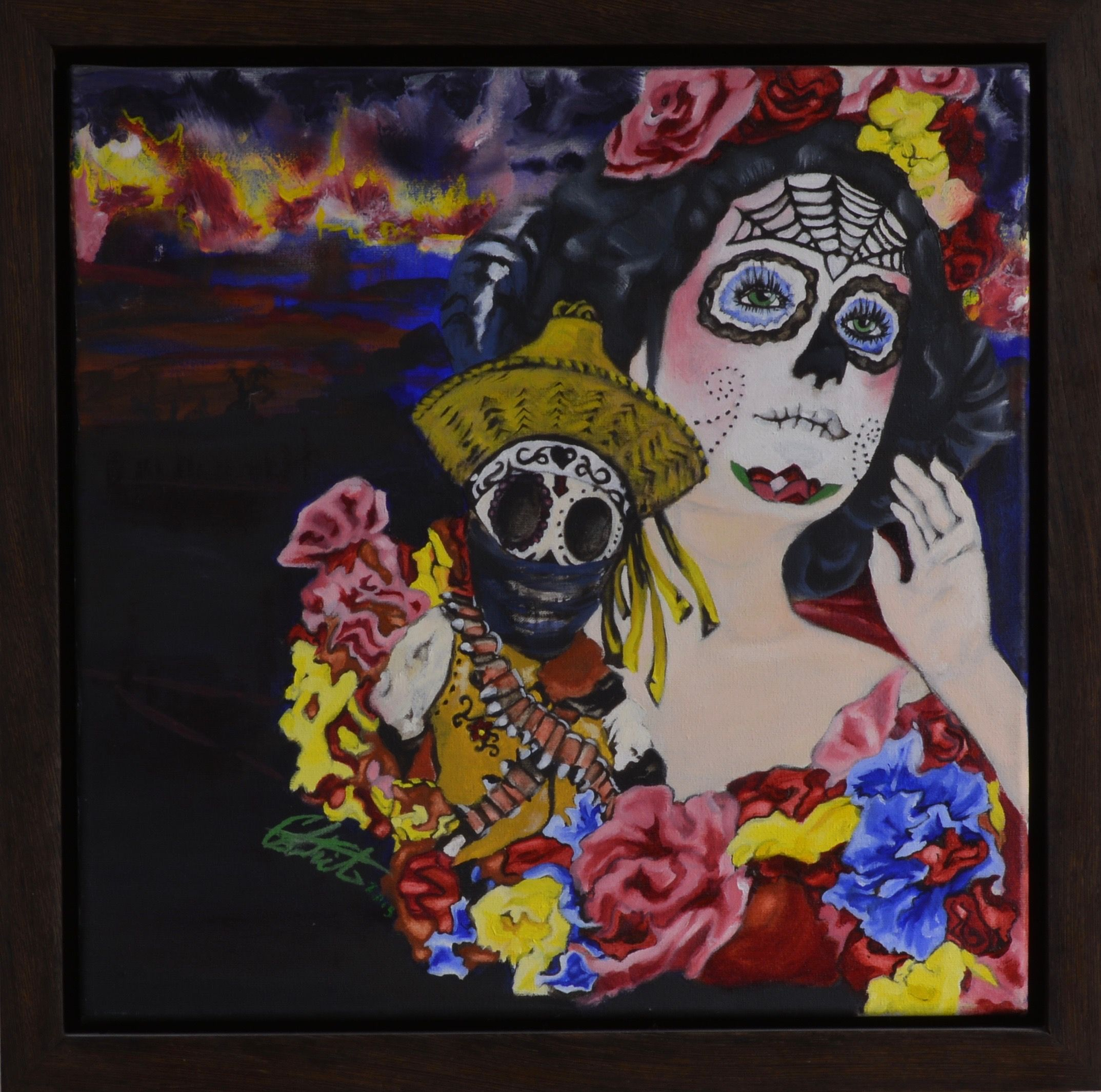 """Bandito de Amor"" - Oil on Canvas - 14"" X 14"" - by Carlo Martinez"
