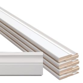 8 Piece 0 5 In X 4 In X 12 Ft Interior Primed Mdf Base Moulding