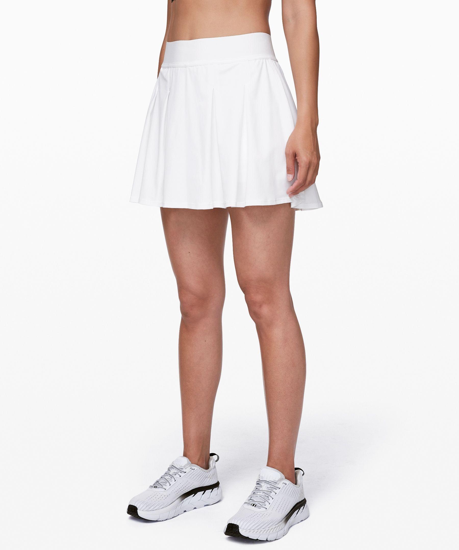 Lululemon Women S Tennis Time Skirt 15 White Size 14 With Images White Tennis Skirt Womens Skirt Womens Tennis Skirts