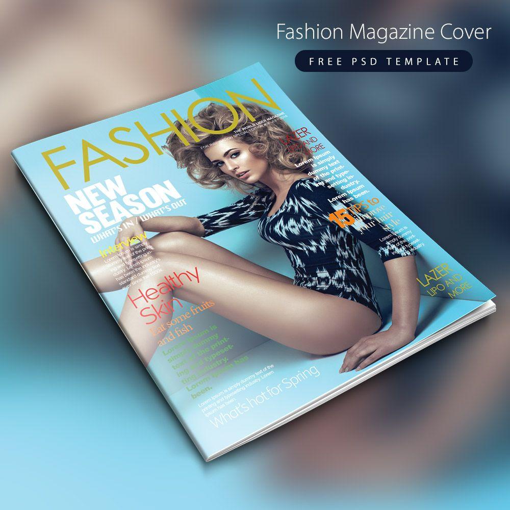 قالب مجلة الأزياء الغطاء الحرة Psd Psd Template Free Fashion