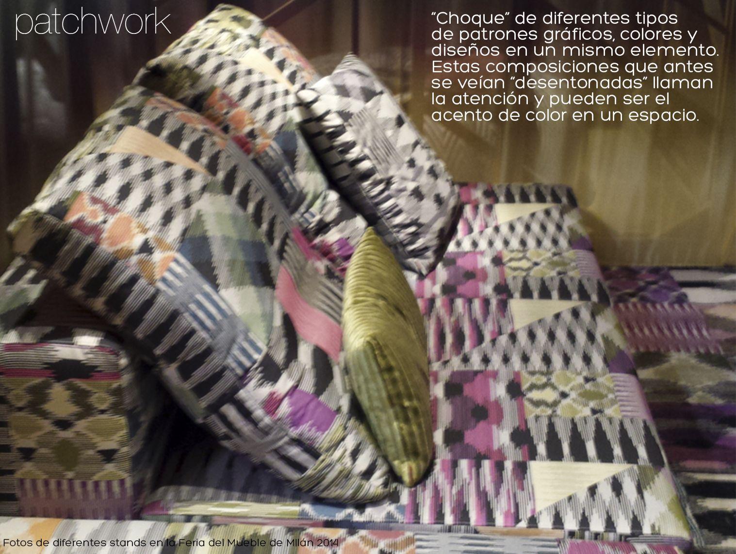 Patchwork - combinación de varios patrones gráficos en un mismo diseño, en un mismo ambiente. Concepto de Colcha de retazos  #milan2014 #patterns