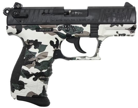 """Walther P22 3.4"""", Winter Camo"""