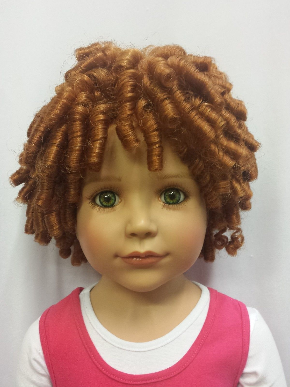 """NWT Monique Curly Sue Carrot Doll Wig 17 18"""" fits Masterpiece Doll"""