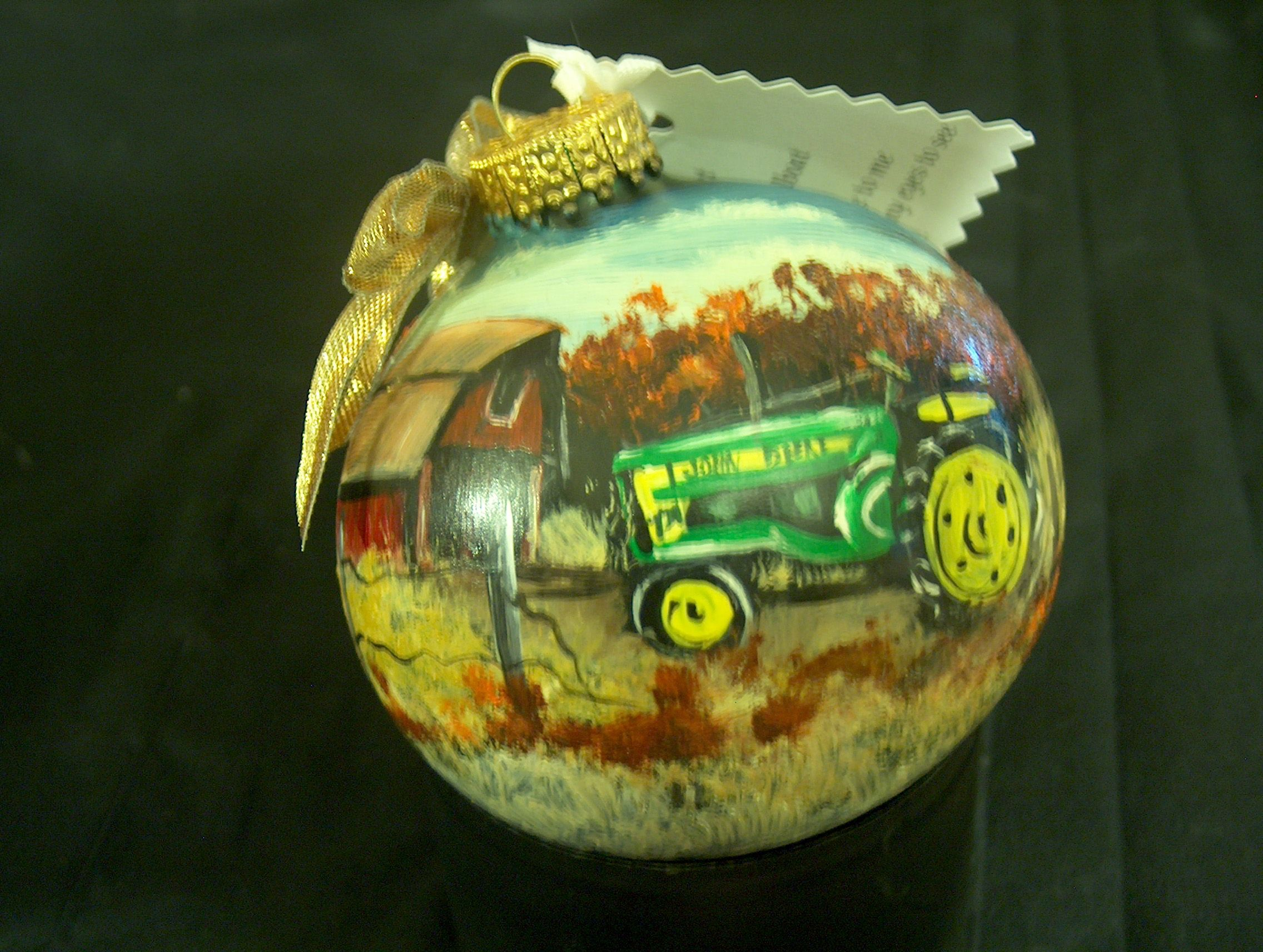 John Deere Ornament Art Hen House Christmas