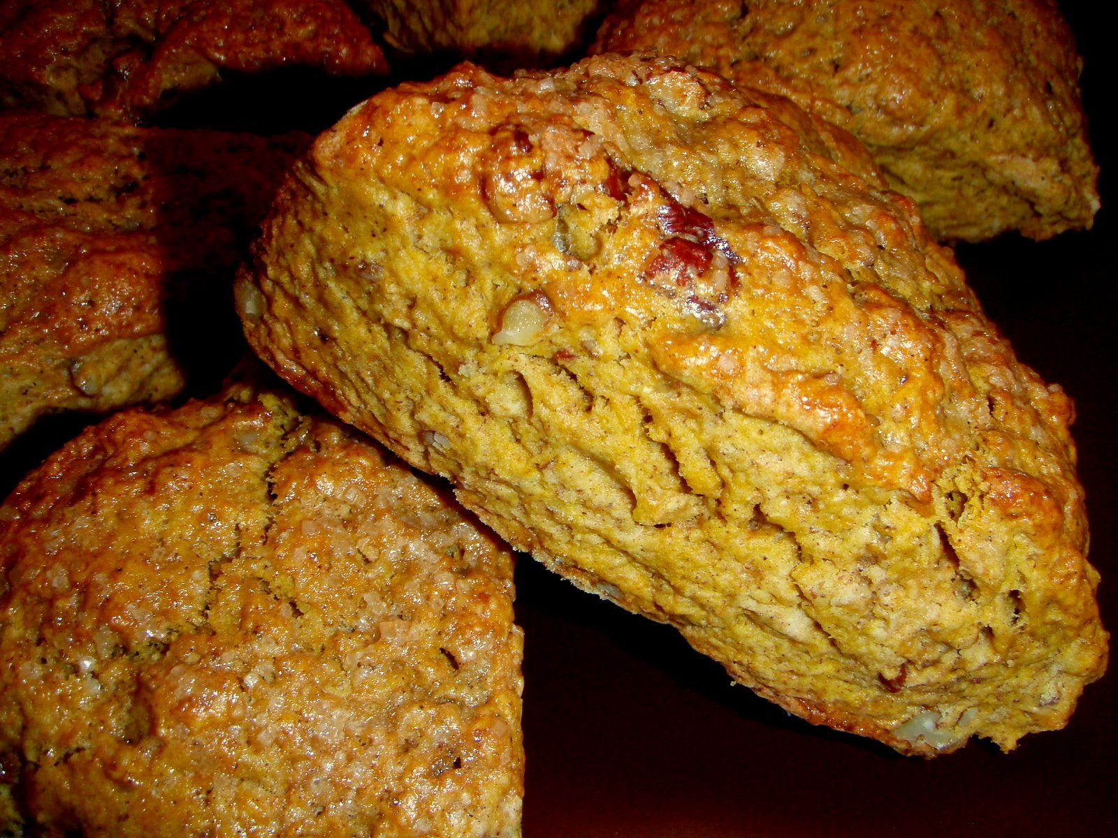 pumpkin scones (link: http://cookeatshare.com/recipes/pumpkin-scones-490941)