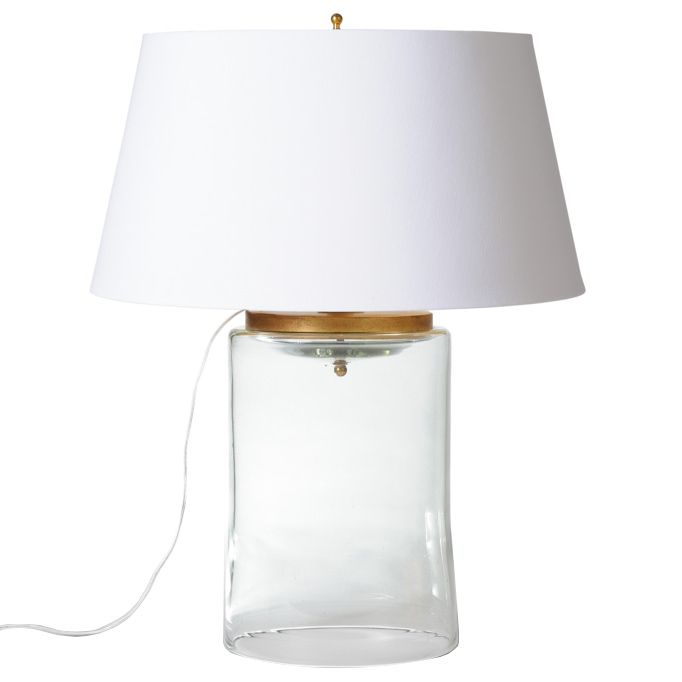 Barbara Cosgrove Cylinder Glass Table Lamp Bc115022hwte Lamp Table Lamp Glass Table Lamp