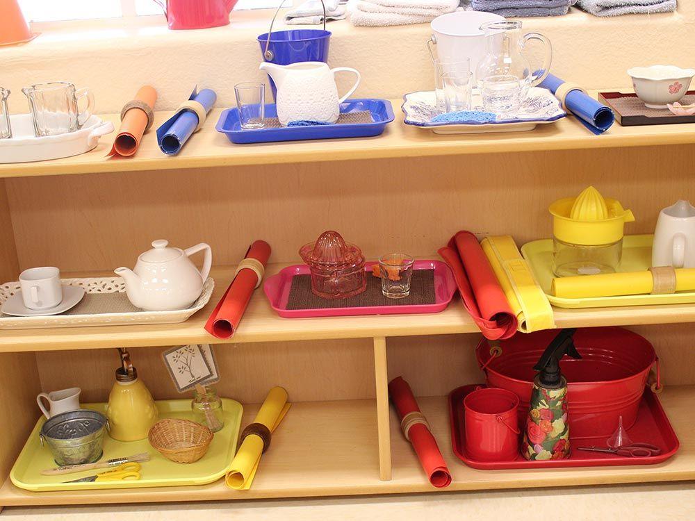 Food Preparation: Color coded lessons. Pouring Tea, Juicing lemons.....
