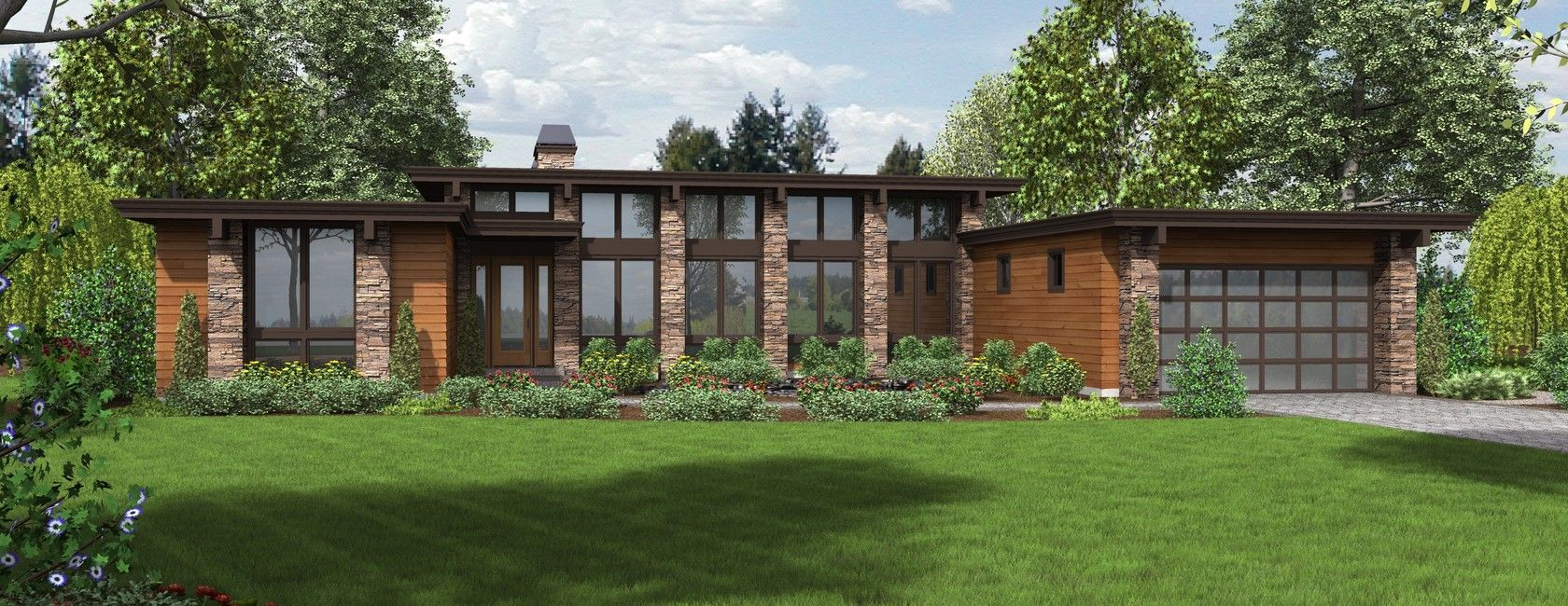 H Shaped House Plan Modern Style House Plans Ranch House Plans