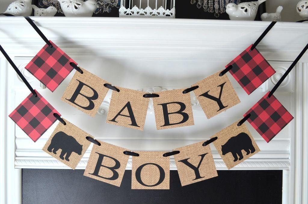 Burlap Baby Shower Decorations, Lumberjack Party Decor, Itu0027s A Boy Burlap  Banner Lumberjack Shower Decorations, Woodland Shower | Burlap Baby, ...