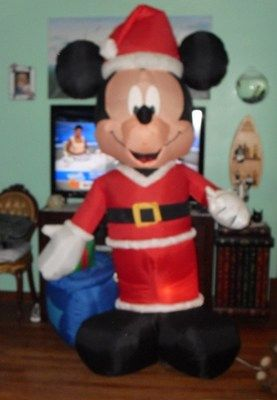 7 foot mickey mouse christmas inflatable disney santa claus gift ...