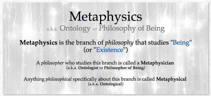 Metaphysics Metaphysics Philosophy Theology