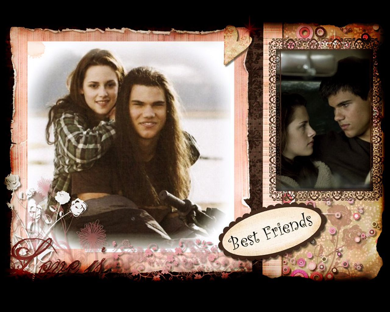 Scrapbook ideas for best friend - Jacob And Bella Best Friends Scrapbook Page 1280x1024 Photo