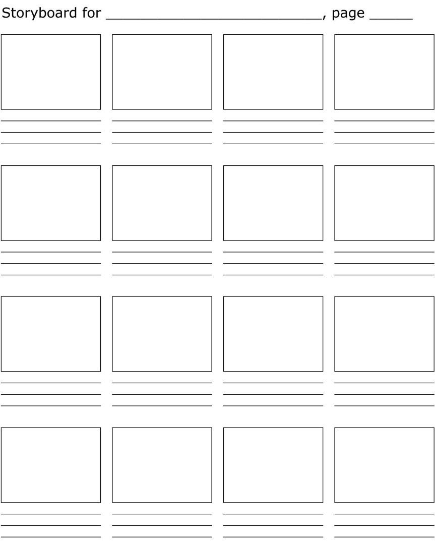 STORYBOARD TEMPLATE | Books | Pinterest | Dibujo