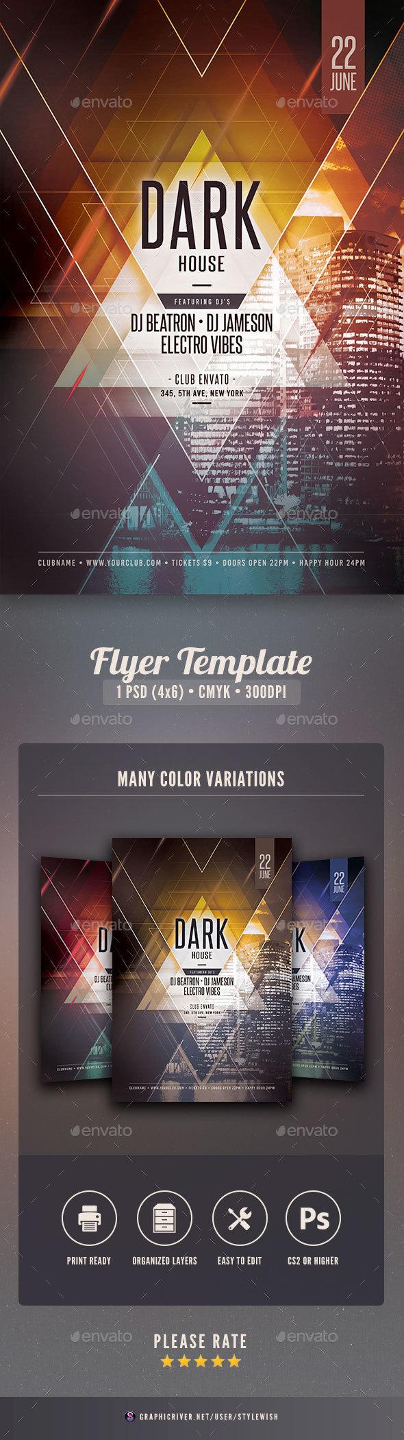 Dark House Flyer | Dark house, Font logo and Flyer template