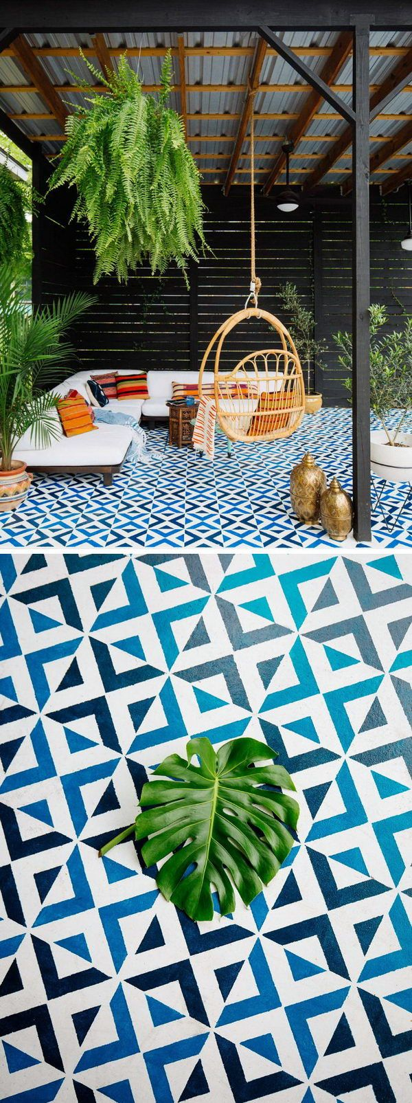 Painted Patio Floor Tiles With images   Patio flooring ...
