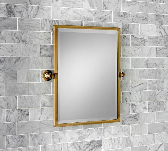 Make Photo Gallery master bath es in larger size and different colors Kensington Pivot Rectangular Mirror