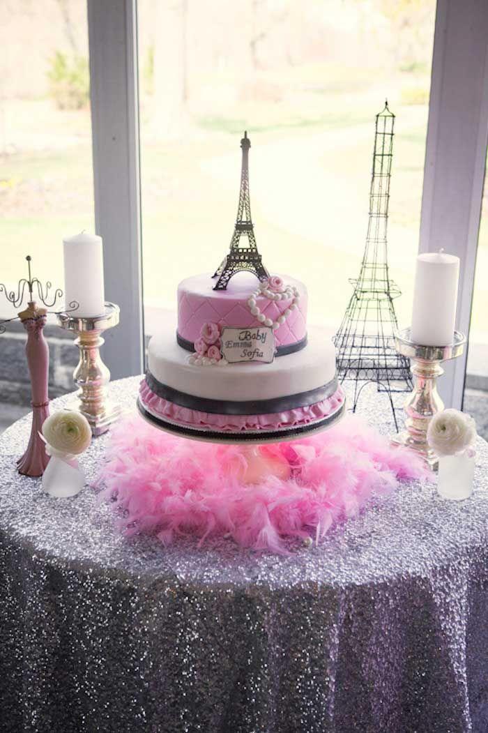 Pink Paris Themed Baby Shower | Baby shower ideas | Paris ...