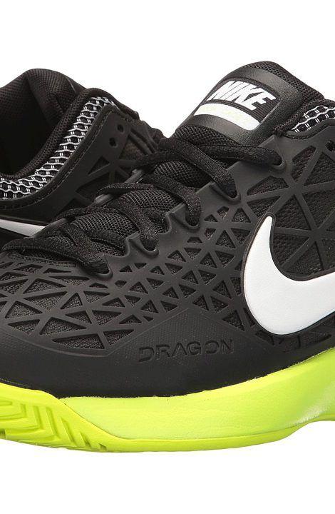 416cdcff69fe Nike Zoom Cage 2 (Black White Volt) Women s Tennis Shoes - Nike ...
