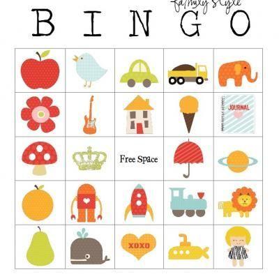 Family Style Bingo Cards {Free Game} | Kinder printables ...