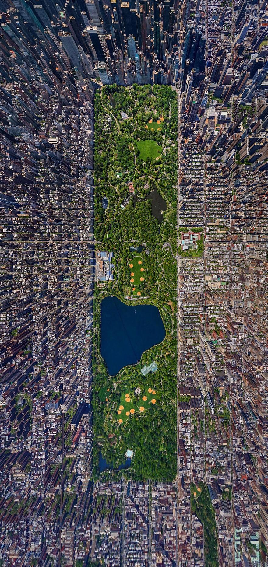15 Famous Landmarks Zoomed Out To Capture Their Surroundings I Central Park I Found on: http://goodmood-gm.com/art/photography/15-famous-landmarks-zoomed-out-capture-surroundings/