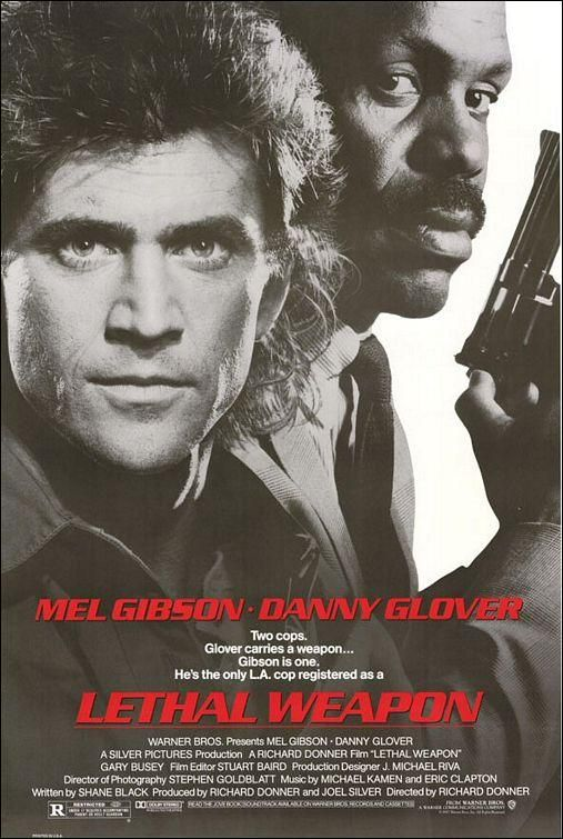 """""""Lethal Weapon"""" (1987). COUNTRY: United States. DIRECTOR: Richard Donner. CAST: Mel Gibson, Danny Glover, Gary Busey, Mitchell Ryan, Tom Atkins, Traci Wolfe, Darlene Love, Grand L. Bush"""