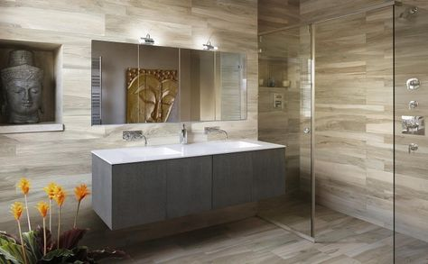 Carrelage sol salle de bain imitation bois en 15 idées top ! | salle ...