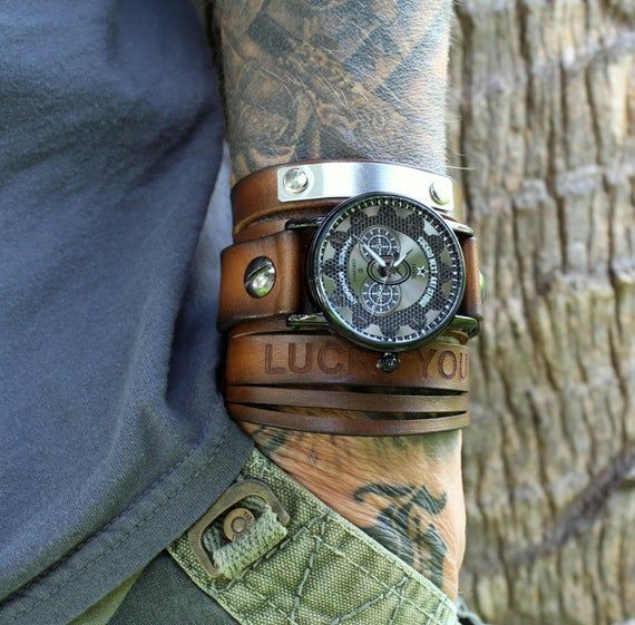 Custom Watch Strap Men's cuff watch Leather #accessories #watch @EtsyMktgTool #watchcuff #menswristwatch #steampunkwatch #leathercuffwatch #fashion #style #love #moda #model #photography #beautiful #beauty #instafashion #fashionista #instagram #cute #makeup #lifestyle #dress #design #handmade #girl