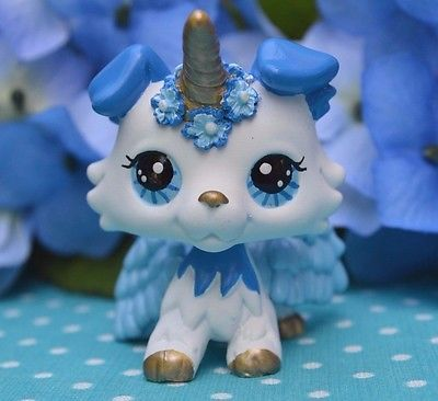 Littlest Pet Shop Cute Angel Unicorn Collie Dog Ooak Custom