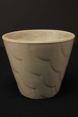 Vintage Gray Stoneware Crock Pottery Planter Jardinere Flower Pot Ceramic 7""