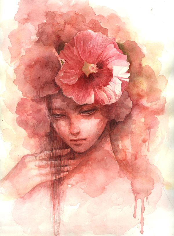 Hollyhock By Kim Hee Kyoung Deviantart Com On Deviantart