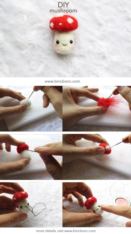 DIY felted mushroom