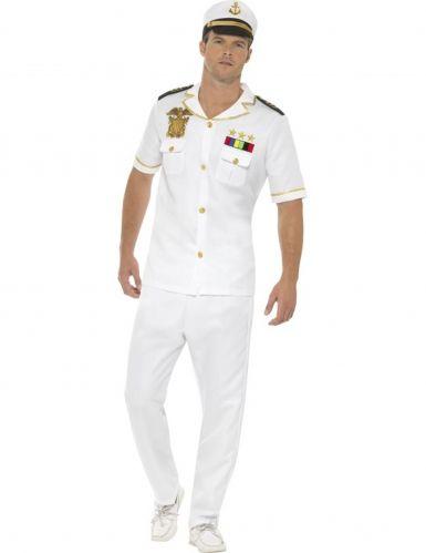 Kapitän Marine Herrenkostüm weiss   Herren kostüm, Party ...