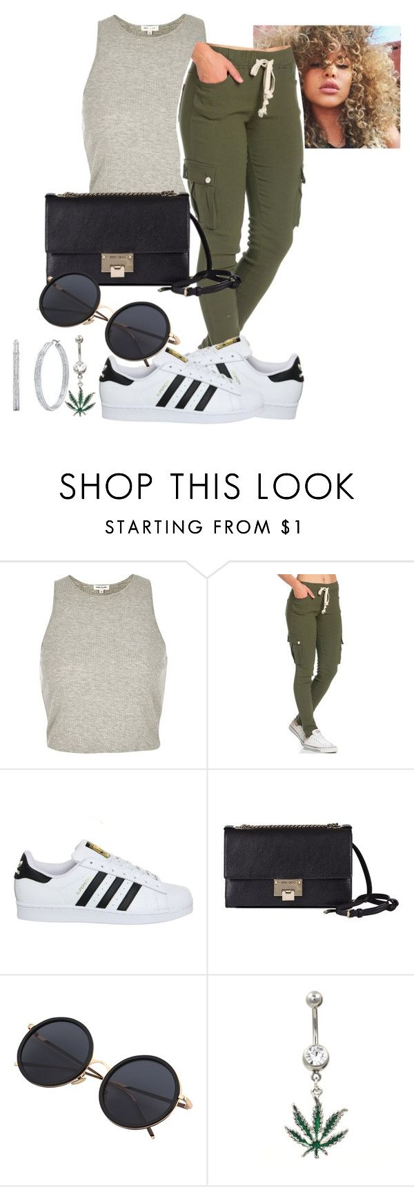 Untitled #6 by kyrawhite721 on Polyvore featuring River Island, adidas and Jimmy Choo