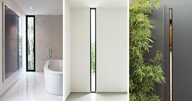 Window Style Ideas Narrow Vertical Windows Modern