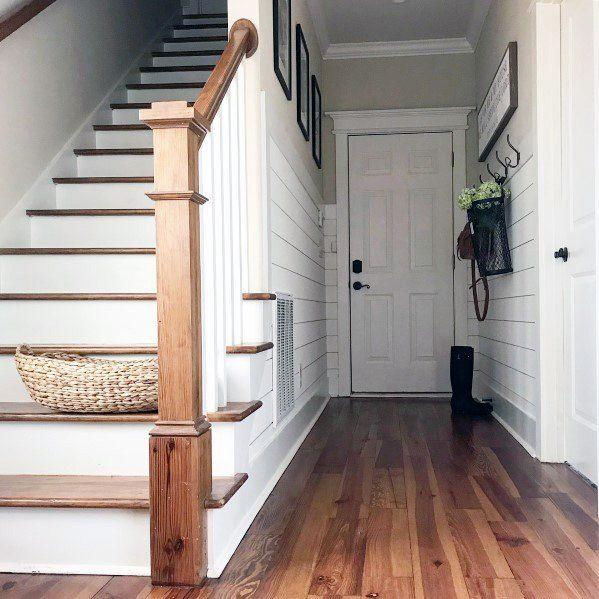 Top 50 Best Wood Stairs Ideas: Top 50 Best Shiplap Wall Ideas