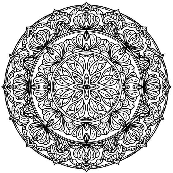 Krita circles mandala 10 by welshpixie print image