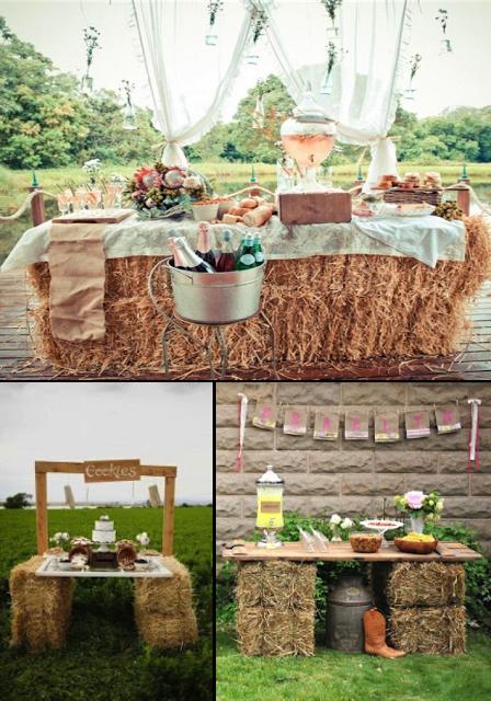 Balas de paja para decorar tu boda decoraci n de eventos for Decoracion rustica para bodas