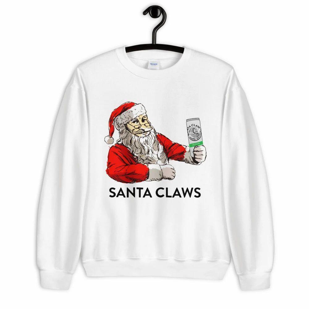 Santa Loves Claws Sweatshirt Sweatshirts Warm Sweatshirts Fitted Sweater [ 1000 x 1000 Pixel ]