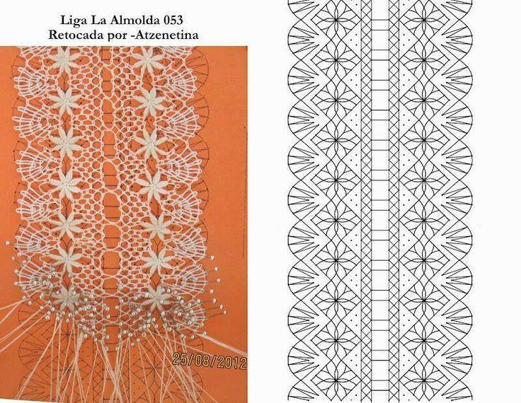 Billedresultat for ligas de novia a crochet | bobbin lace ...