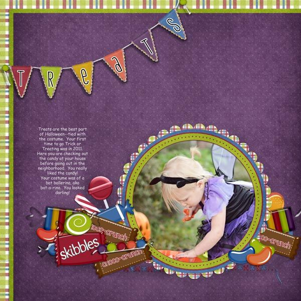 """CT Donna's layout using """"Sweet Stuff"""" by Snips and Snails available at One Story Down: http://onestorydown.com/shop/product.php?productid=18965=1"""