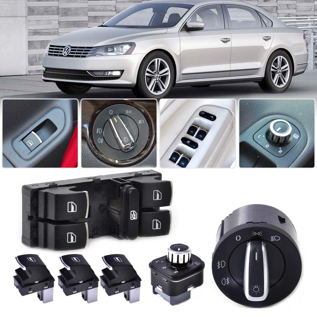 Headlight Mirror Window Switch Control Set Fit For Vw Golf Jetta Gti Volkswagen Wiring Harness Mk5 Mk6 Passat B6