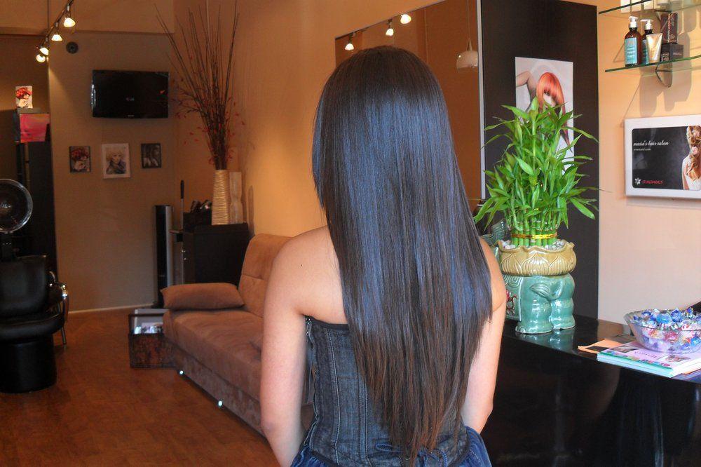 coupe cheveux long en u