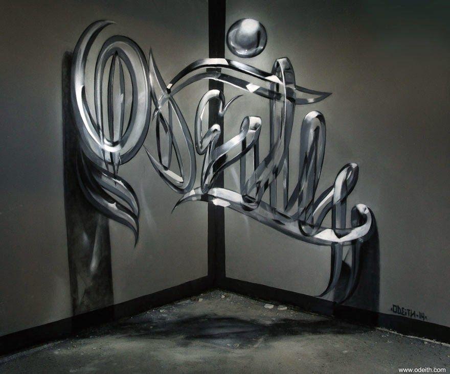 Artista callejero crea increíbles Graffitis en 3D   #ChistesparaDG