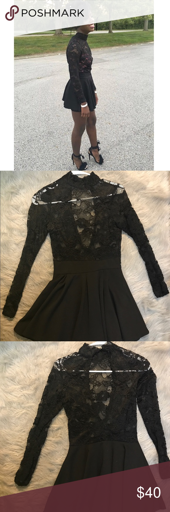 Windsor mini dress long sleeve black windsors minidress with shorts