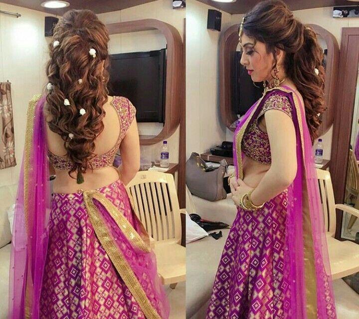 Hansika Motwani Indian Bridal Hairstyles Lehenga Hairstyles Hair Styles
