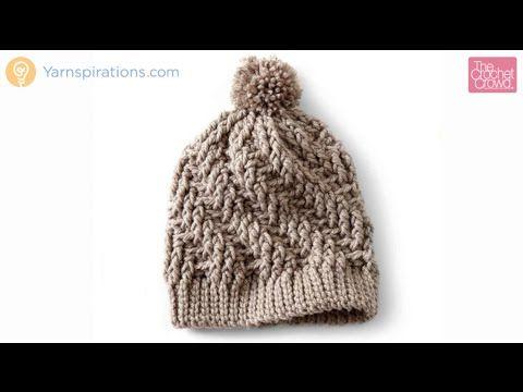 Mooie Rekbare Boord Haken Crochet Stepping Texture Hat Tutorial