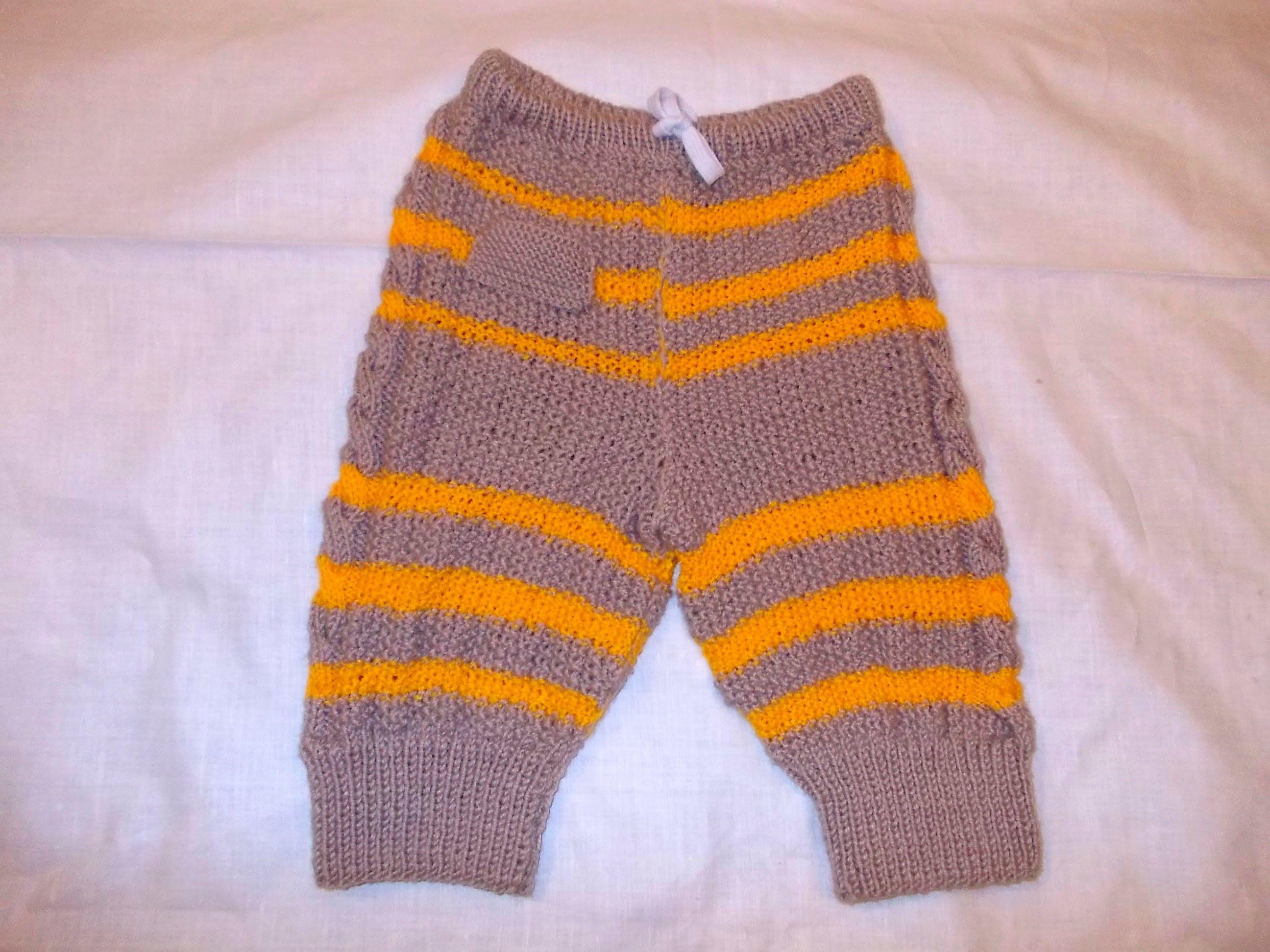 вязание детских штанов штанишек спицами для самых маленьких