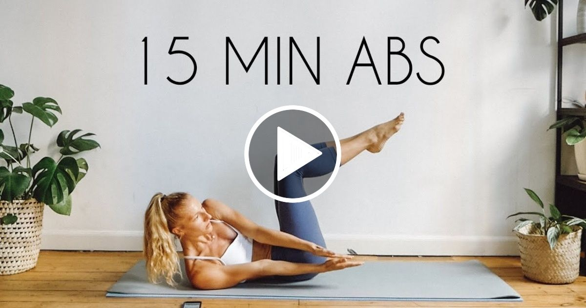 15 MIN TOTAL CORE/AB WORKOUT (At Home No Equipment) - FIT LIFE VIDEOS