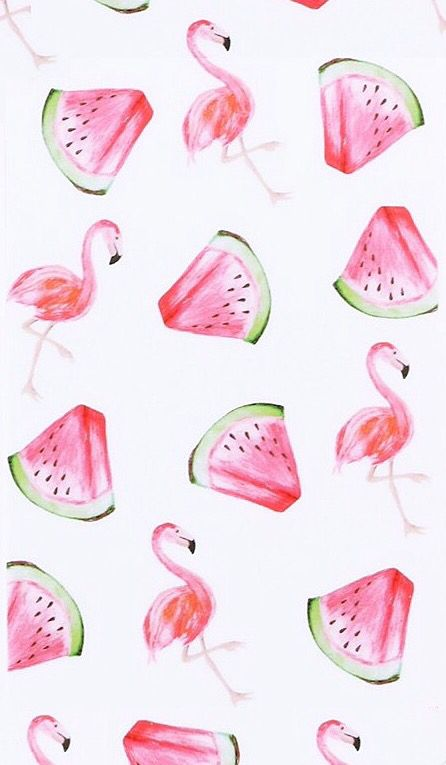 Flamingo Watermelon Wallpaper From My Jewellery Watermelon Wallpaper Flamingo Wallpaper Watercolor Iphone